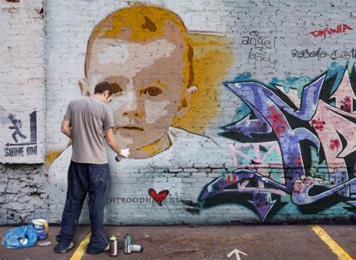Graffitie is voor één keer kunst